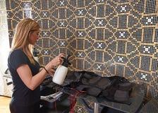 Nettoyage humide d'électro costume de stimulation de SME Images libres de droits