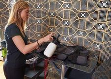 Nettoyage humide d'électro costume de stimulation de SME Images stock