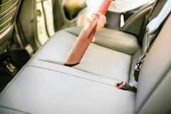 Nettoyage intérieur des véhicules à moteur Photographie stock