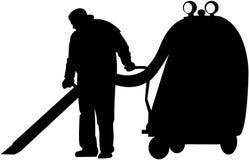 Nettoyeur au travail Photos libres de droits