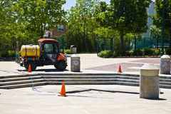 Nettoyeur de fontaine Photo libre de droits