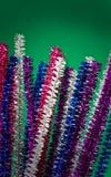 Nettoyeurs de pipe colorés scintillants photographie stock libre de droits