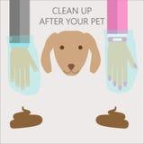 Nettoyez après votre animal familier illustration de vecteur