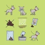 Nettoyez après votre chien illustration libre de droits