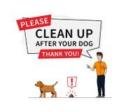 Nettoyez après votre illustration de vecteur de chien illustration libre de droits