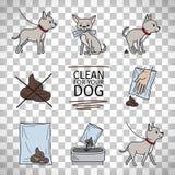 Nettoyez après votre information de chien illustration libre de droits