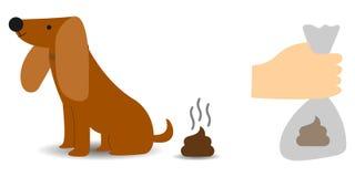Nettoyez apr?s votre concept de chien illustration stock