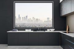 Nettoyez l'intérieur de cuisine photos stock