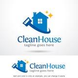 Nettoyez la Chambre Logo Template Design Vector illustration de vecteur