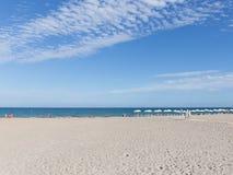 Nettoyez la plage Alicante, Costa Blanca Images libres de droits