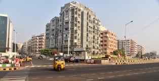 Nettoyez la ville Visakhapatnam Photos stock
