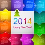 Nettoyez le calendrier mural 2014 d'affaires Image libre de droits