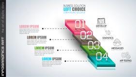 Nettoyez le calibre de disposition d'Infographic pour l'analyse de données et d'information Photos libres de droits