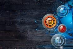 Nettoyez le calibre de disposition d'Infographic pour l'analyse de données et d'information Photos stock
