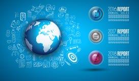 Nettoyez le calibre de disposition d'Infographic pour l'analyse de données et d'information Images libres de droits