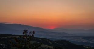 Nettoyez le coucher du soleil Images libres de droits