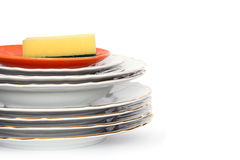Nettoyez le Dishware Image stock