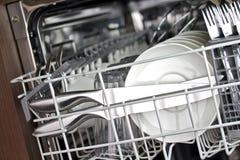 Nettoyez le Dishware Photo libre de droits