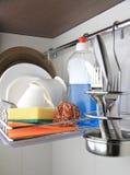 Nettoyez le dishware photos stock