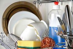 Nettoyez le dishware Photographie stock libre de droits