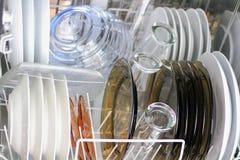 Nettoyez le Dishware Images libres de droits