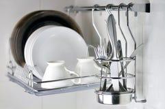 Nettoyez le Dishware Photographie stock