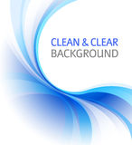 Nettoyez le fond bleu d'affaires Images libres de droits