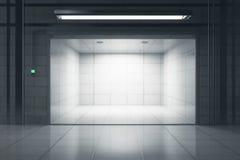 Nettoyez le garage avec la porte ouverte illustration libre de droits