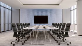 Nettoyez le lieu de réunion, conférence avec le mur d'accent illustration stock