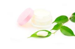 Nettoyez le massage facial crème Image libre de droits