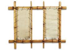 Nettoyez le panneau-réclame en bambou fabriqué à la main Image stock