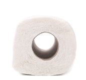 Nettoyez le papier hygiénique blanc image libre de droits