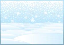 Nettoyez le paysage d'hiver avec le lac congelé illustration stock