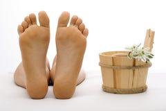 Nettoyez le pied Images stock