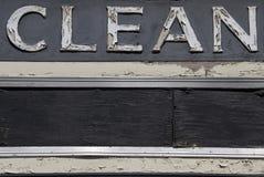 Nettoyez le signe Photos stock