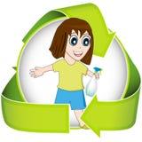 Nettoyez le vert Photo stock