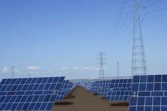 Nettoyez les générateurs solaires de plaques d'énergie électrique Photo libre de droits