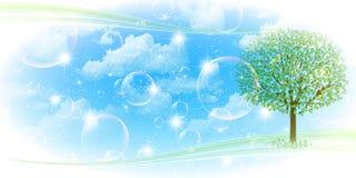 Nettoyez les illustrations vertes fraîches de fond Photos stock