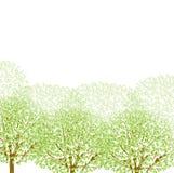 Nettoyez les illustrations vertes fraîches de fond Images stock