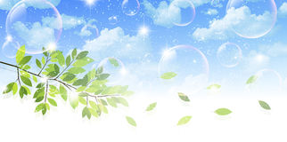 Nettoyez les illustrations vertes fraîches de fond Photo libre de droits