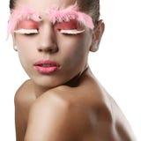 nettoyez les jeunes de peau de fille Photos stock