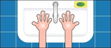 Nettoyez les mains Images stock