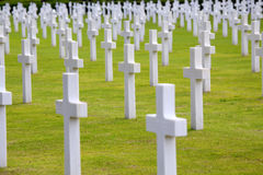 NETTUNO - April 06: Tombs, American War Cemetery Of The American Stock Photo