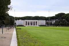 NETTUNO - April 06: Building of the American Military Cemetery o Royalty Free Stock Photography