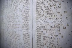 NETTUNO - April 06: The Names of fallen soldiers at war, America Royalty Free Stock Photos