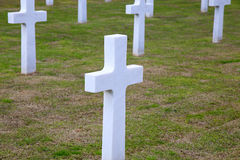 NETTUNO - April 06: Tombs, American war cemetery of the American Stock Photography