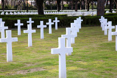 NETTUNO - April 06: Tombs, American war cemetery of the American Stock Photos