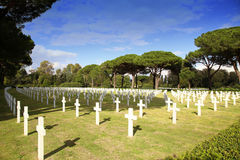 NETTUNO - April 06: Tombs, American war cemetery of the American Royalty Free Stock Photos