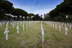 NETTUNO - April 06: Tombs, American war cemetery of the American Royalty Free Stock Images