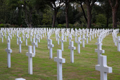 NETTUNO - April 06: Tombs, American war cemetery of the American Stock Images